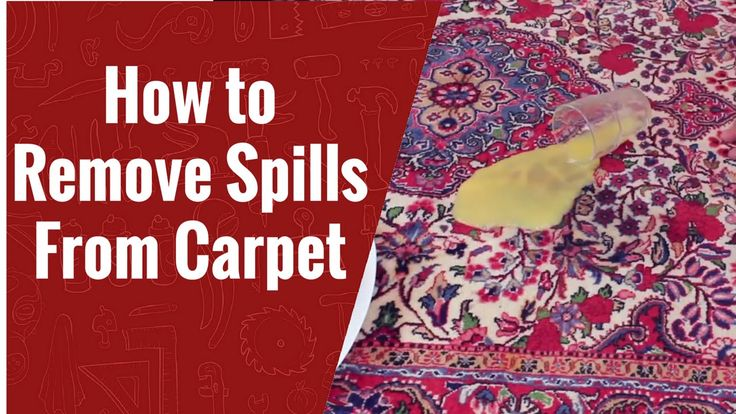 How to Remove Spills From Carpets