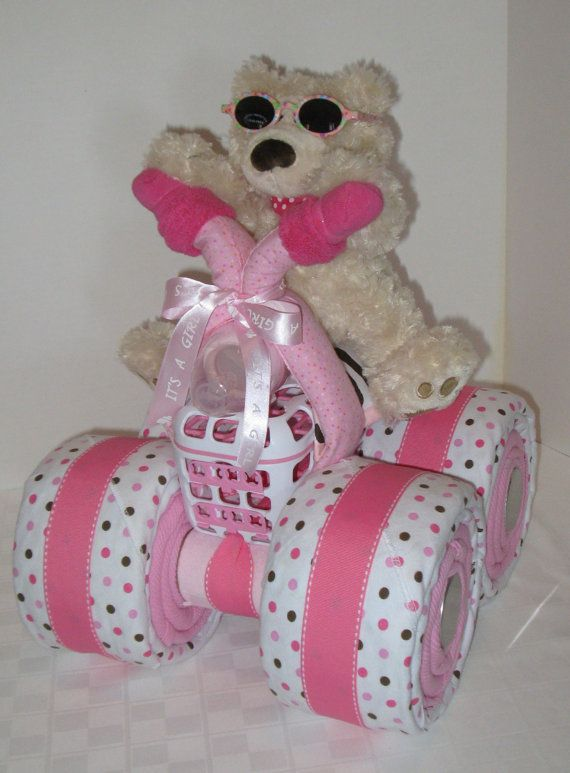 Baby Shower Gift Ideas For Girls   Bear With Pink Bike, So Cute