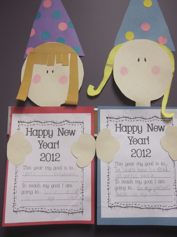 Happy New Year classroom craft - This ould be great for the day back after the holiday break!