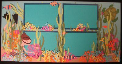 SCRAPPIN' CRICUT: In the Ocean at the Reef - Life's A Beach Layout