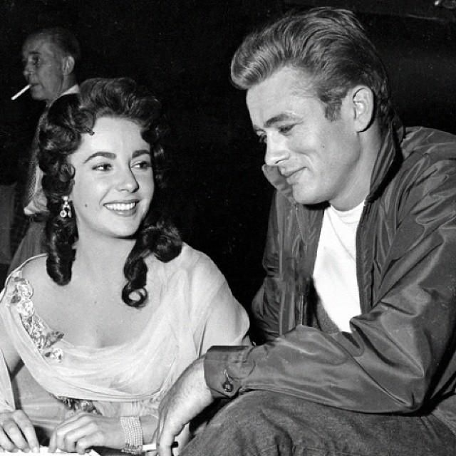 Elizabeth Taylor and James Dean, 1950s