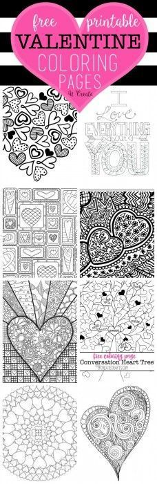Free Printables - Valentine's Day Coloring Pages via U CREATE - perfect for adults or kids!