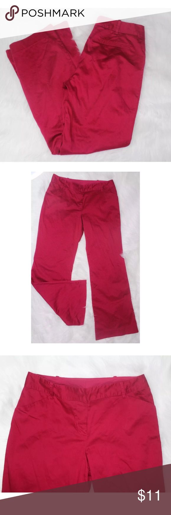 A. Byer Magenta Pink Dress Flare Slacks Pants A. Byer Magenta Pink Dress Flare Slacks Pants Juniors Sz 9 Casual Career cute C •Inseam 30 inches •Waist 15 1/2 inches •97% Cotton •3% Spandex A. byer Pants Boot Cut & Flare