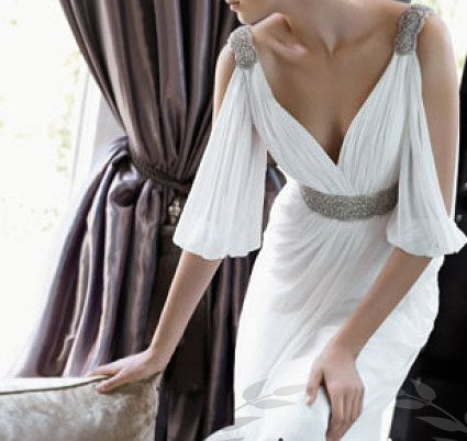 Vintage Chiffon Wedding Dress Bridal Gown Bridesmaid Dress