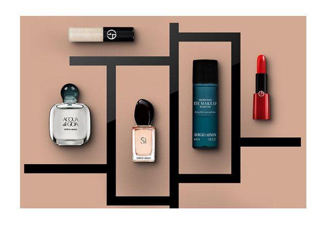 Giorgio Armani signe une beauty box mettant à l'honneur l'élégance, le luxe et la féminité. On retrouve donc, dans ce coffret Prêt-à-Beauté, les produits iconiques du maquillage et du soin Giorgio Armani : - 1 eau de parfum Acqua Di Gioia - 1 eau de parfum Sì - 1 rouge à lèvres Rouge Ecstasy -…