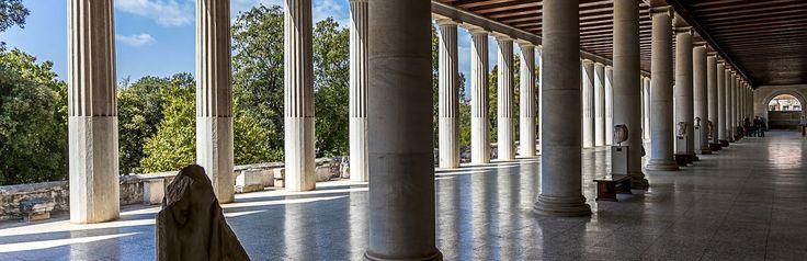 Oude Agora van Athene, een agora was in het Oude Griekenland het centrale plein van de stad. #Athene, #Griekenland, #stedentrip, #vakantie