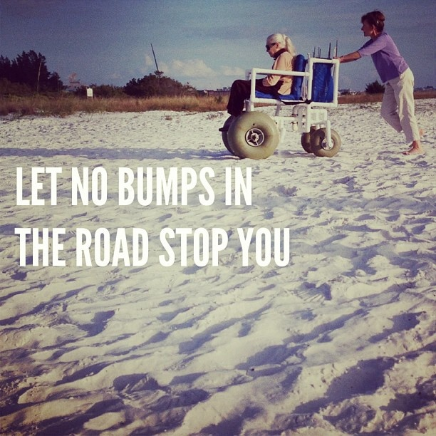Let no bumps in the road stop you. #beach #wheelchair #homemade #innovation #innovative #sun #sand #persistence #strenght #dadailydo #picoftheday by @dadailydo, via Flickr