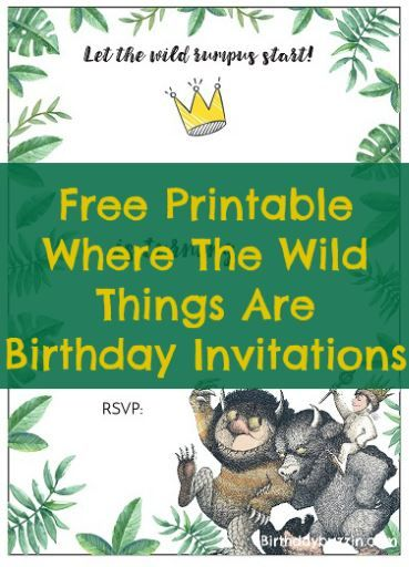 Free Printable Where The Wild Things Are Birthday Invitations Jackson S 1st One Party