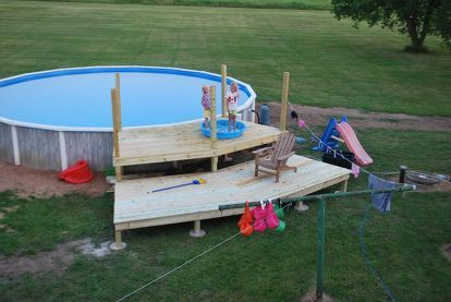 our pool deck project, decks, pool designs, end of day two lower deck complete…