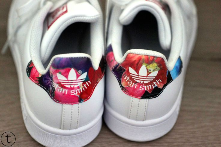 Adidas Stan Smith Flowers White