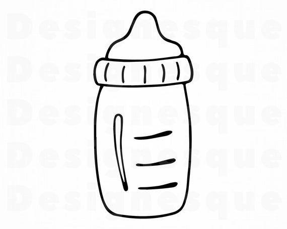 Baby Bottle 6 Svg Baby Bottle Svg Baby Bottle Clipart Baby Etsy Baby Clip Art Baby Bottles Bottle Drawing