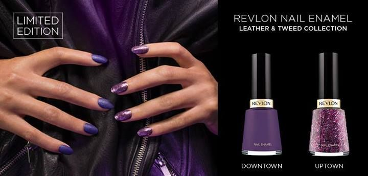 Are you more downtown leather or uptown tweed? Get them both with Revlon's latest limited edition nail enamel collection. #nails #TextileNails #NailEnamel