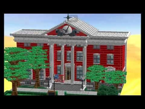 Hill valley 1955 Courthouse clocktower lego moc