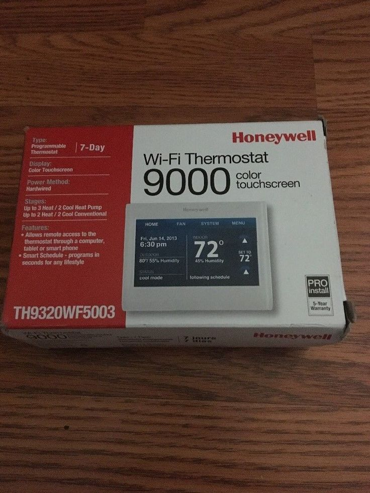 Honeywell Wi-Fi Thermostat 9000 (COLOR TOUCHSCREEN) TH9320WF5003 #Honeywell
