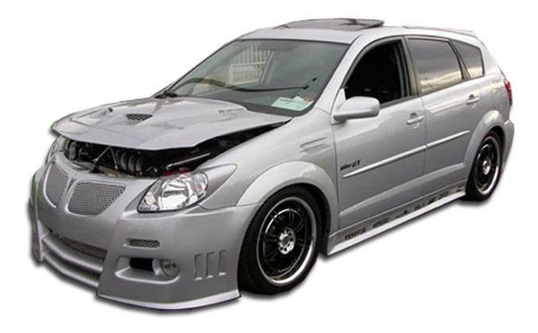 2003-2008 Pontiac Vibe Duraflex Graphite Body Kit - 4 Piece - Includes Graphite Front Bumper Cover (100519) Graphite Rear Bumper Cover (100520) Graphite Side Skirts Rocker Panels (100521)