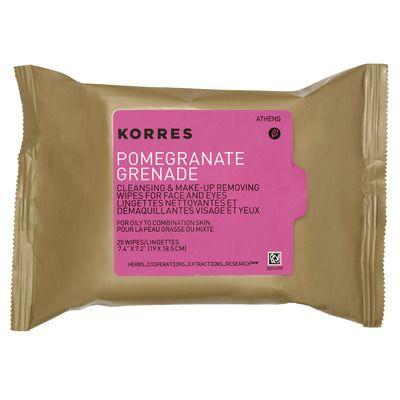 Korres Pomegranate Cleansing & Makeup Removing Wipes