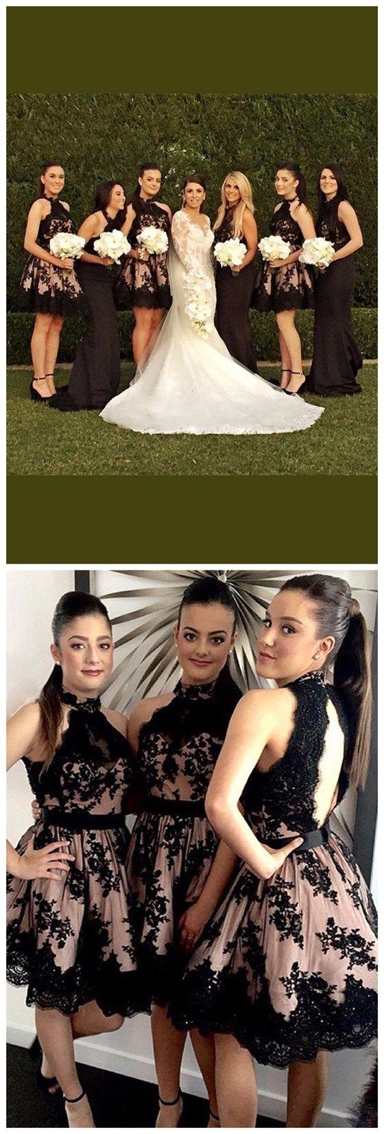 High Neck Bridesmaid Dresses,Open B