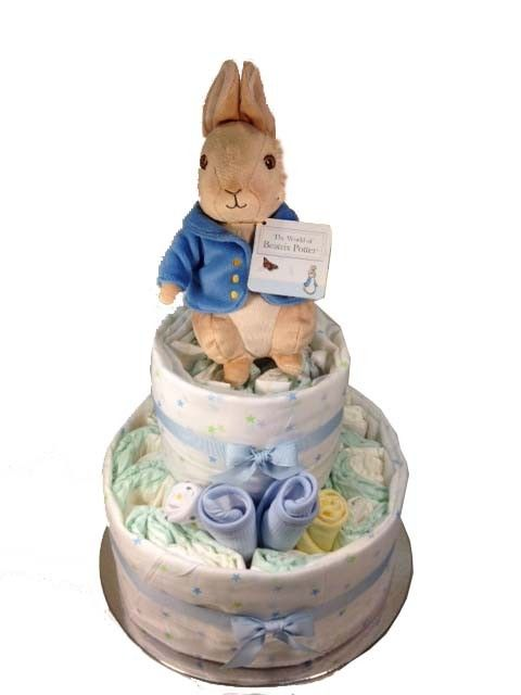 Peter Rabbit Nappy Cake - 2 Tier