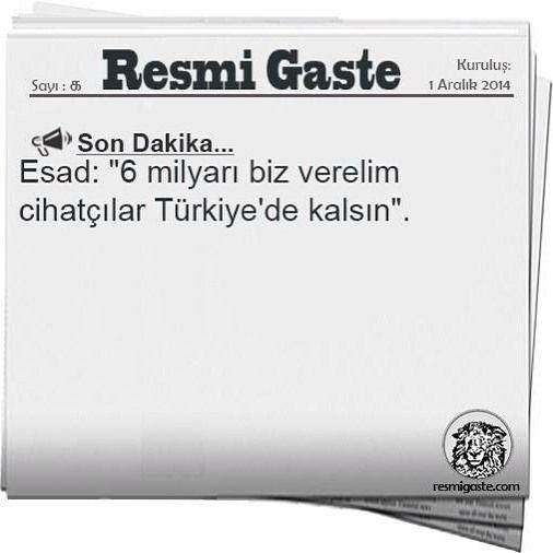 SON DAKİKA... http://ift.tt/1QRdoSp #saka #sakagibi #komik #komedi #komedigibi #inanilmaz #instagood #instagram #instalive #instamoodo #instamizah #gercek #haber #gercekgibi #sondakika #mizah #resmigaste #turkiye #türkiye #esad #suriye #suriyeli #multeci #multeciler by resmigastecom #masiva http://masiva.org