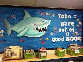 Take A Bite Out Of A Good Book Reading Bulletin Board