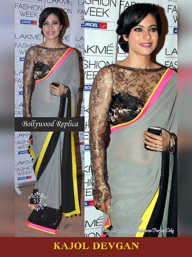 """Buy Kajol Devgan Bollywood Saree Mobile Booking/What's Up/ Product Code """"Sty517"""" to Order +919751633633 Free COD/Shipping in India !! Email us at- shop@migtab.com"""