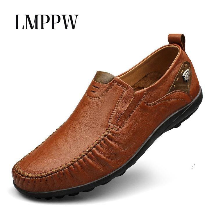 Big Size Men Shoes Genuine Leather Loafers Slip on Driving Shoes High  Quality Men Leather Shoes