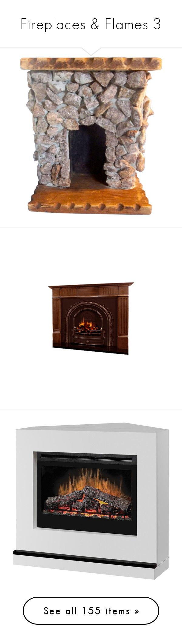 """""""Fireplaces & Flames 3"""" by mysfytdesigns ❤ liked on Polyvore featuring home, home decor, antique home decor, fireplaces, fireplace accessories, contemporary electric fireplace, contemporary home decor, contemporary home accessories, dimplex and dimplex electric fireplace"""