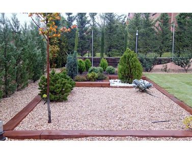 Resultado de imagen de delimitar zonas jardin grava