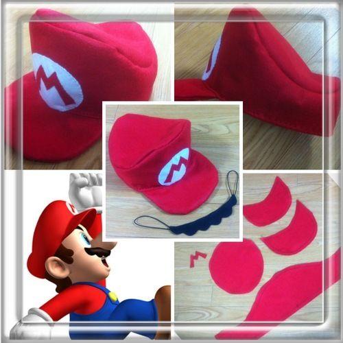 第1弾☆スーパーマリオの帽子とヒゲの作り方