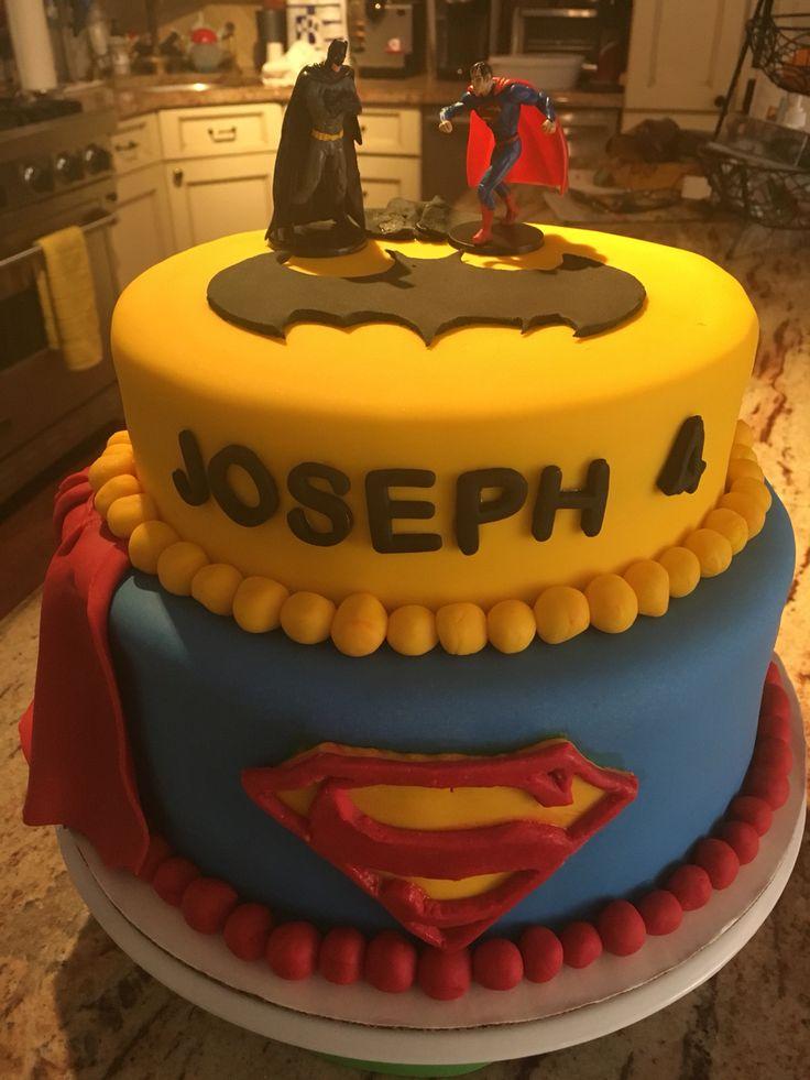 Superman Vs Batman Cake For My Nephew 8th Birthday Cake
