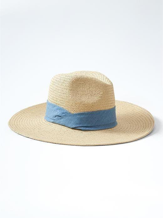 BR wide brim straw hat