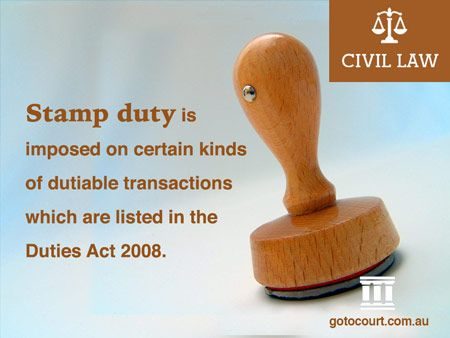 Similar to the other States and Territories, Western Australia imposes stamp duty, which is a kind of levy or tax, on certain kinds of dutiable transactions.  Read more: Stamp Duty in Western Australia | Civil Lawyers WA, Link: https://www.gotocourt.com.au/civil-law/wa/stamp-duty-in-western-australia/