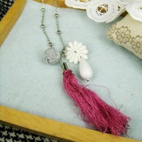 Romantic Violet Floral Necklace