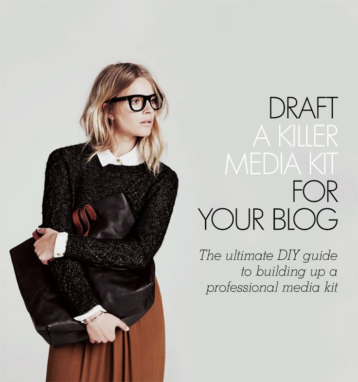 Draft a media kit for your blog