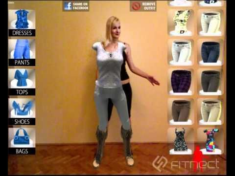 Fitnect is an interactive virtual fitting room application built on the most advanced technologies:  augmented reality, cloth physics and full body motion capture. As a customer you can select  garments from the menu without trying them out at all.  Watch yourself onscreen with a 3D copy of the selected dress. You can control the program by pushing virtual buttons right in the air.