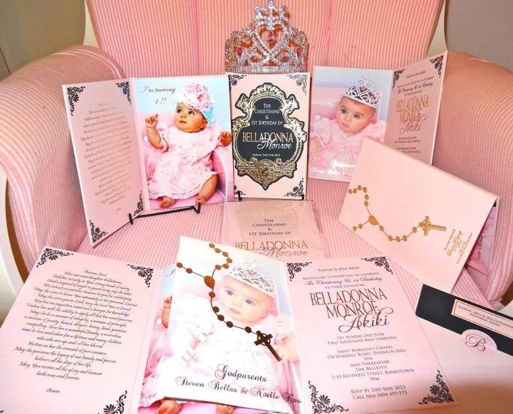 Baby girl christening invite - Diana Khoury