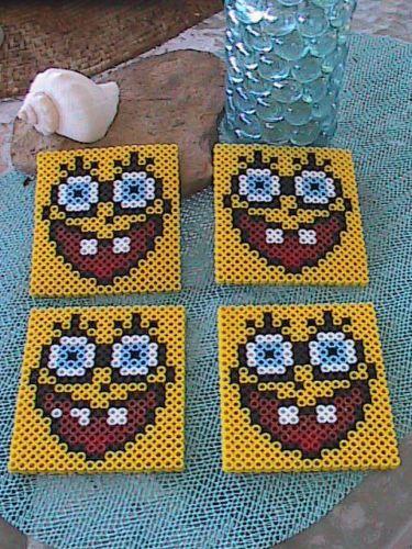 Perler Bead Spongebob Coasters by angelferret
