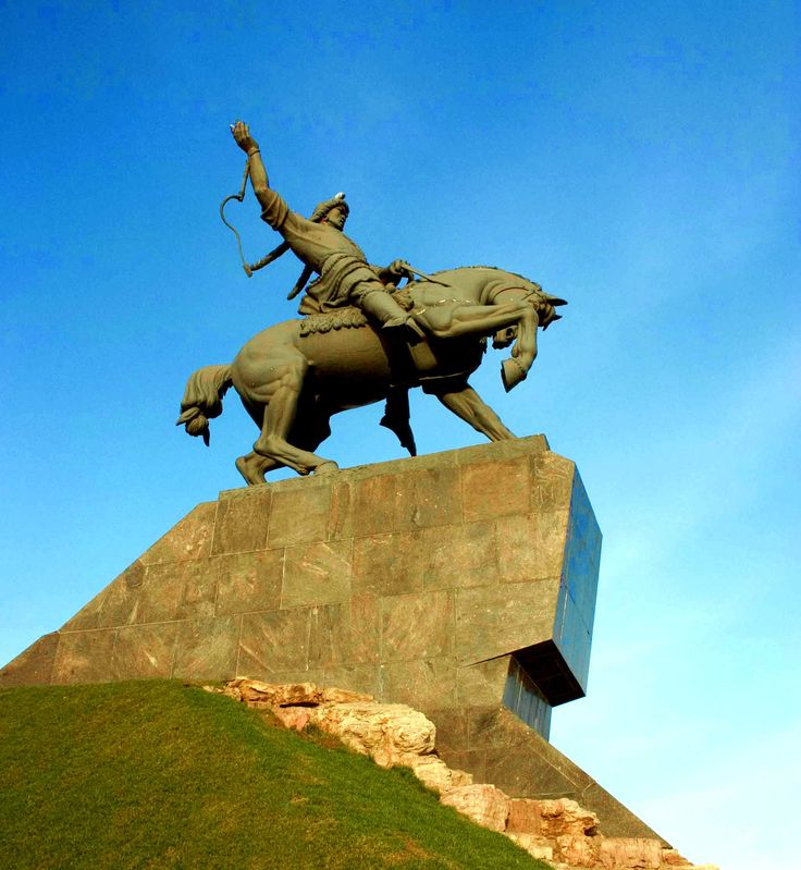 Salavat Statue in the City of Ufa Russia
