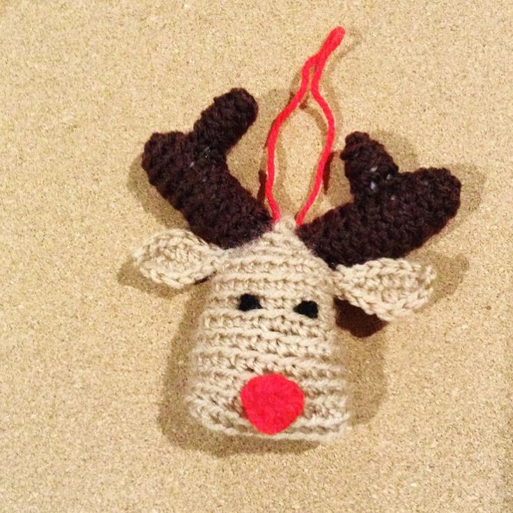 Crochet Christmas tree decoration Reindeer Amigurumi