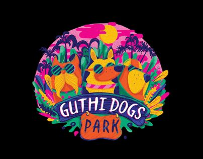 """Check out new work on my @Behance portfolio: """"Guthi Dogs Park - Logo Project""""…"""
