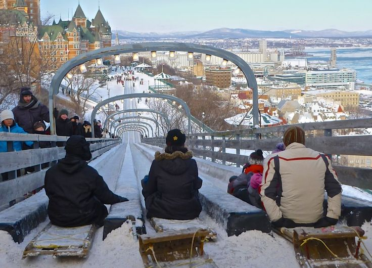 Quebec City toboggan run. Don't think I'd be brave enough to do this ...