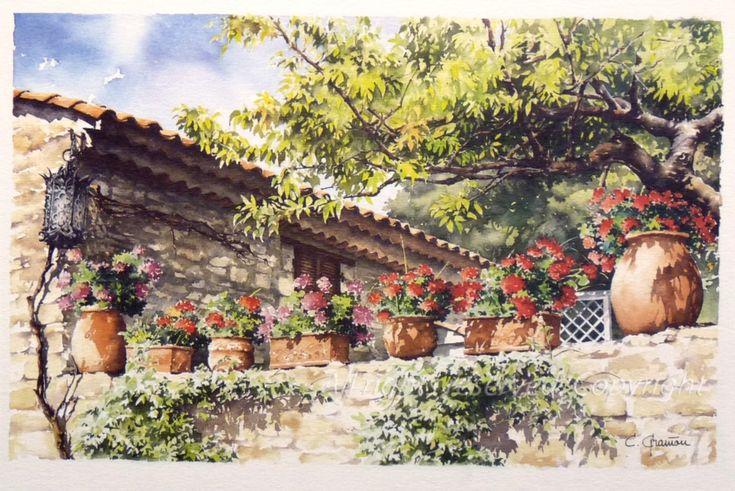 La terrasse aux géraniums: