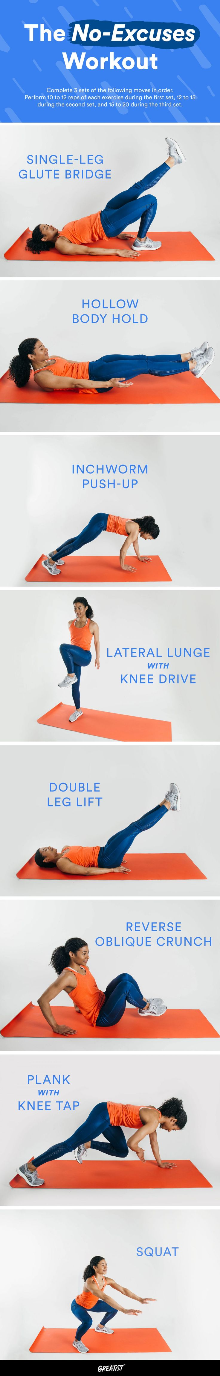 You can literally roll out of bed and do these sur…