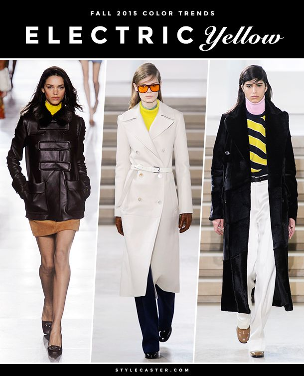The 8 Biggest Color Trends for Fall 2015 | Electric yellow