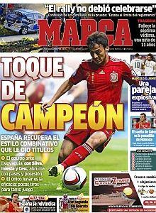 Portadas de los periódicos deportivos de España y Europa hoy Lunes, 7 de septiembre de 2015 - MARCA.com