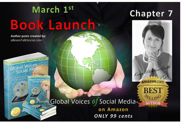 Meet Karen Whitelaw Smith in Chapter 7 called 'The Social Butterfly'.  Learn more by going to Amazon to order Global Voices of Social Media ™ for only 99 cents the whole month of March in honor of #WomensInternationalMonth.