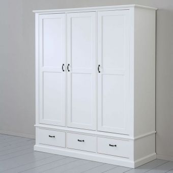 Marvelous Kleiderschrank ALINA mit Schubladen Massivholz Soft Close
