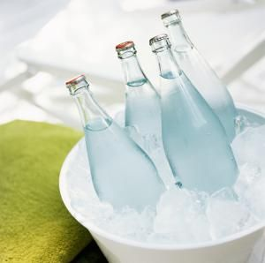 One way to supercool water is to put water bottles in a bucket of ice. - Anthony-Masterson, Getty Images