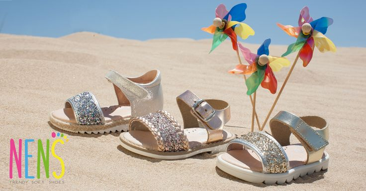 NENS SS17- HAPPY SUMMER!! Enjoy the sun, the sea and the beach with these spectacular NENS girls sandals.