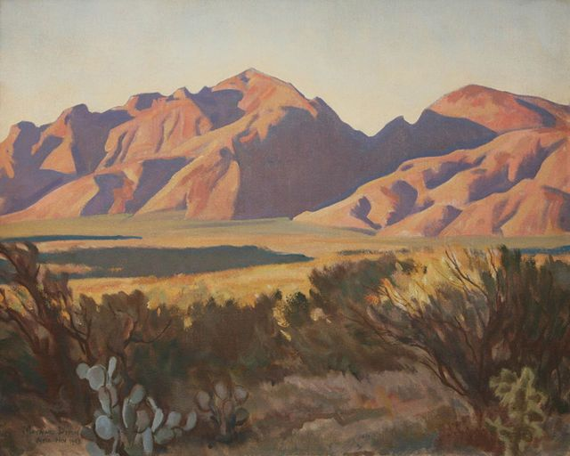 Maynard Dixon Late Light in the Catalinas